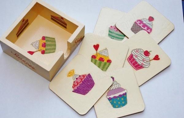 Podkładki w pudełku – wzory