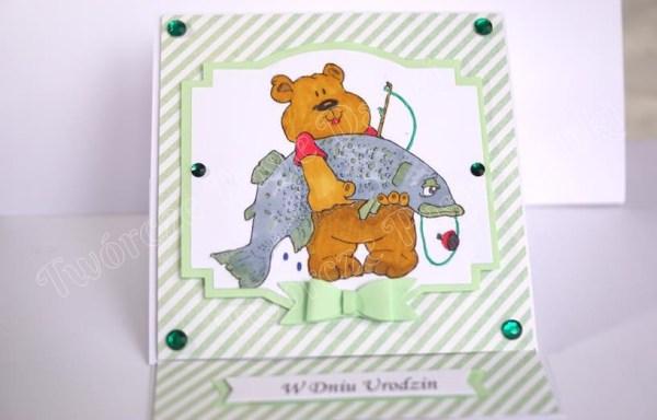 Sztalugowa kartka na urodziny dla wędkarza