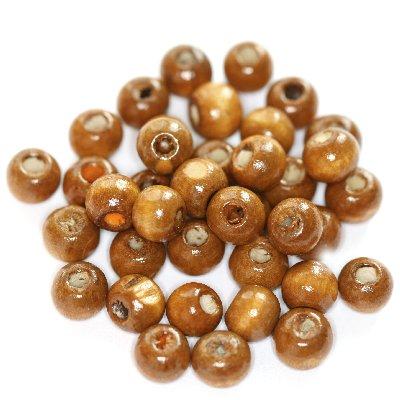 Kule drewniane jasno-brązowe 7 x 8 mm 7szt.