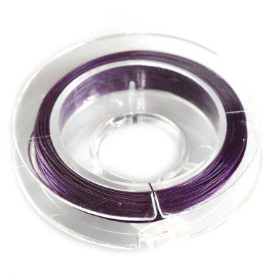 Linka stalowa fioletowa 0,45mm 20cm