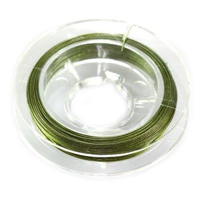 Linka stalowa zielona 0,45mm 20cm