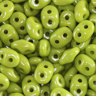Matubo SuperDuo opaque shade green 2.5 x 5 mm 4op.