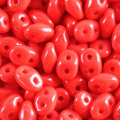 Matubo SuperDuo opaque shade red 2.5 x 5 mm 4op.