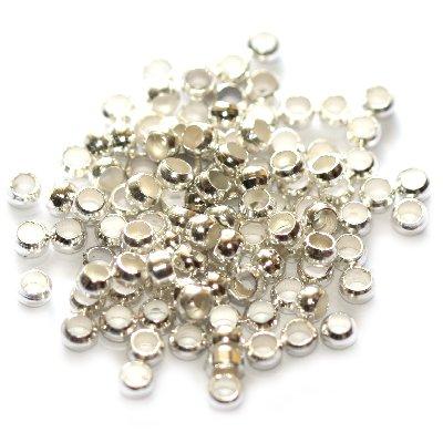 Kuleczki zaciskowe kolor srebrny 2 mm 2szt.