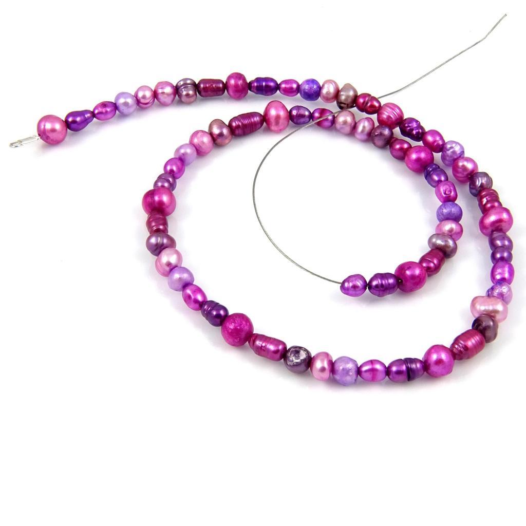 Naszyjnik Liliowe perły - krok 7