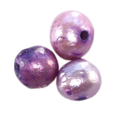 Perełki słodkowodne 5-6 mm liliowe 10szt.