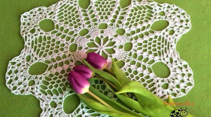 Petronelka - serwetka z tulipanami, przykra hstoria