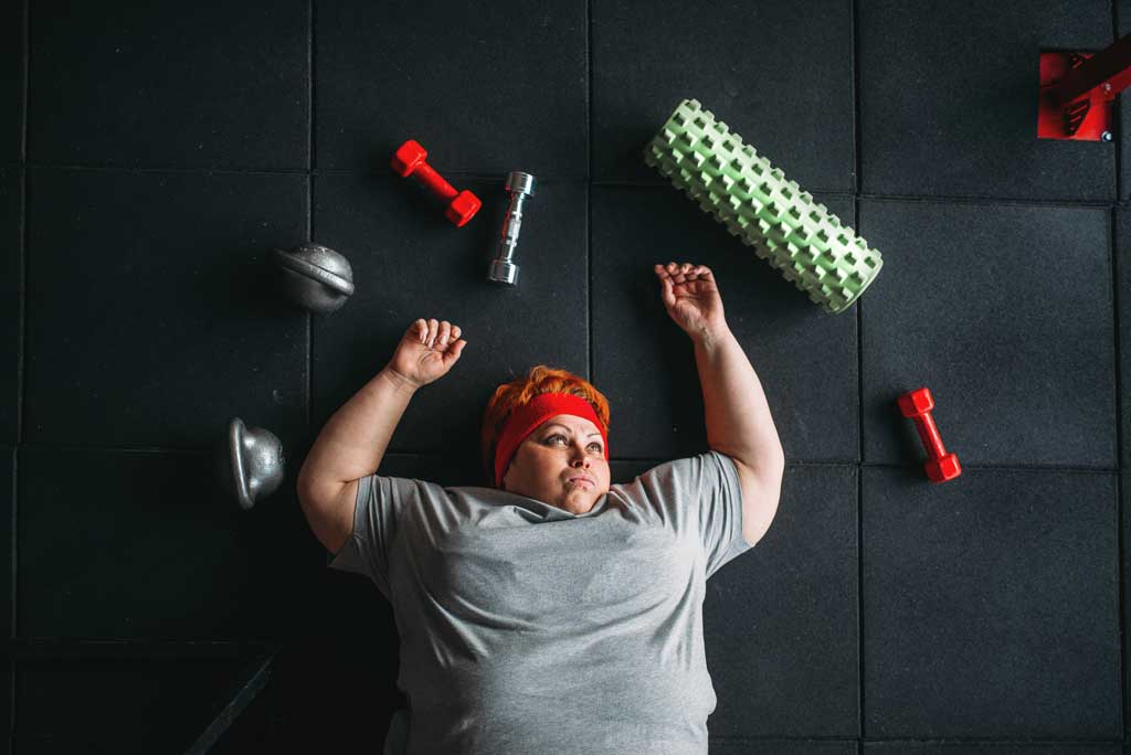 ćwiczenia mogą powodować wzrost wagi - stres