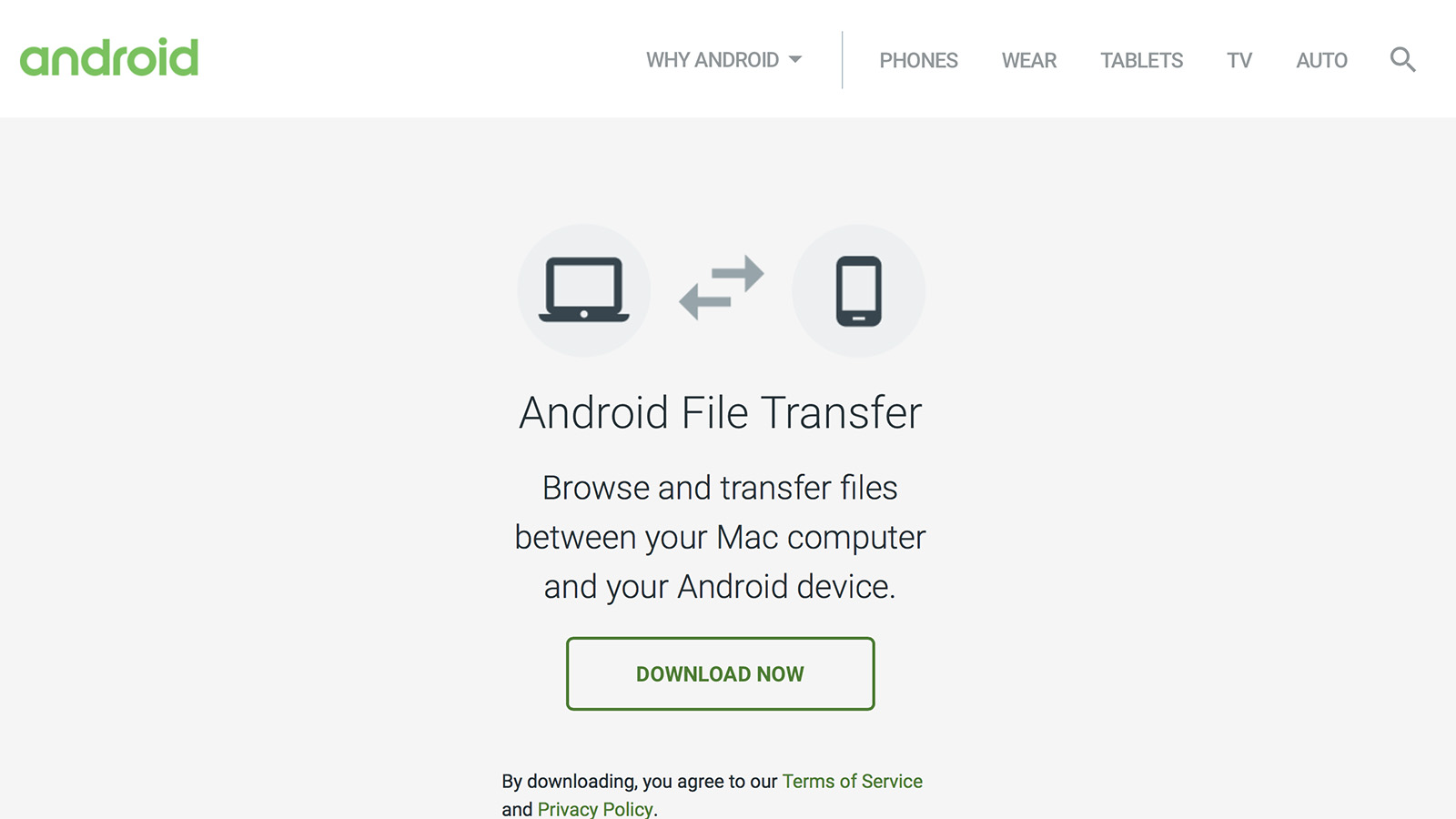 Android File Transfer 配布サイト