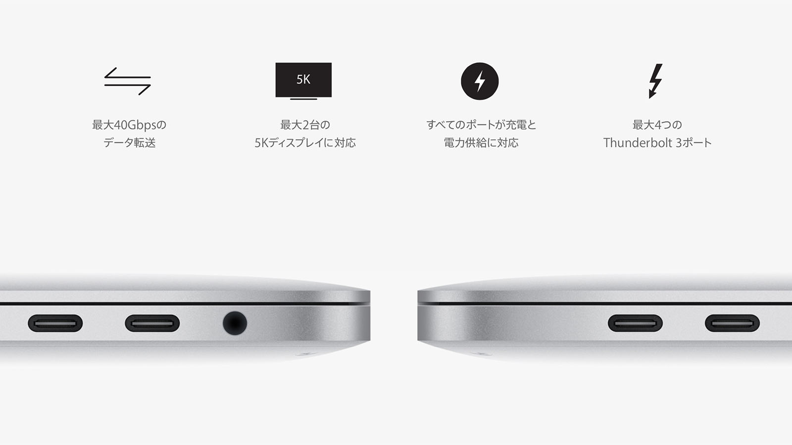2016年 MacBook Pro USB Type Cポート