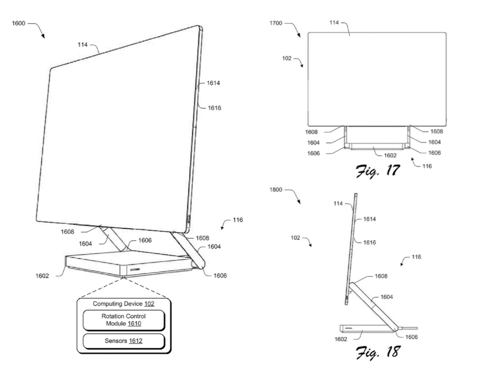 Surface AIO デスクトップPC 特許文書