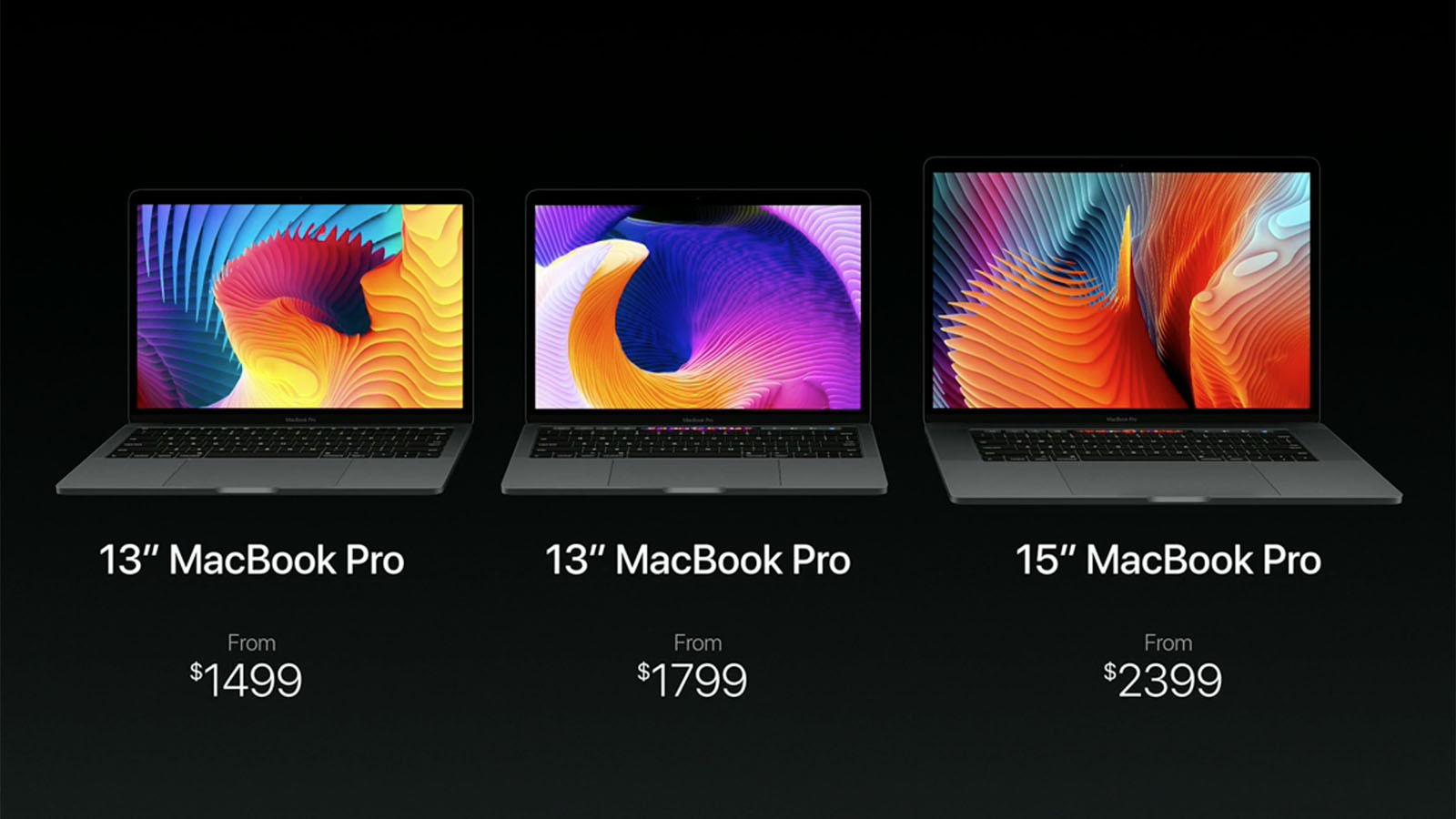 2016年 MacBook Pro リリース