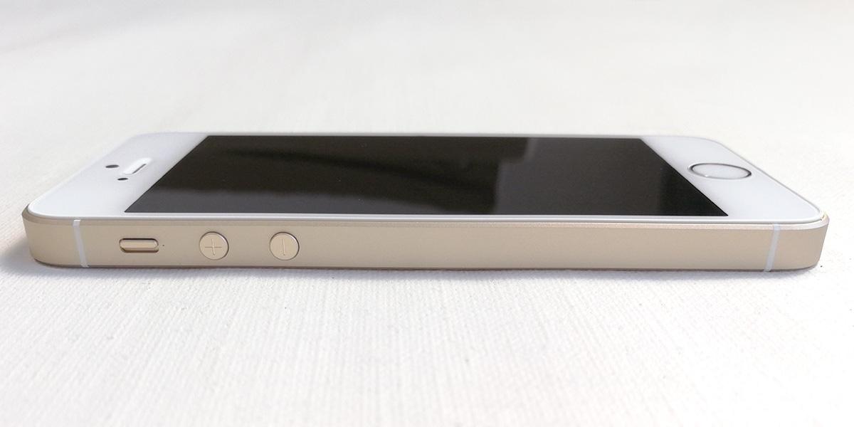 iPhone SE 音量調節ボタン