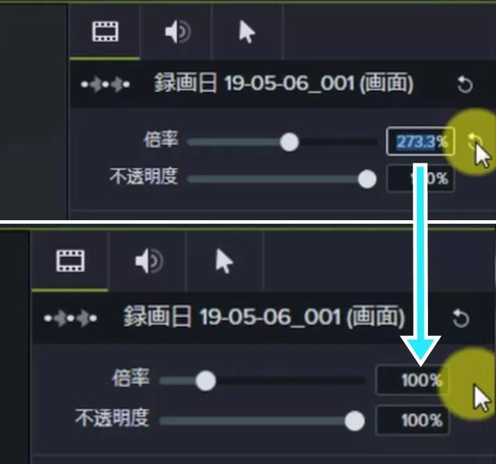camtasiaアニメーション使い方5-vert