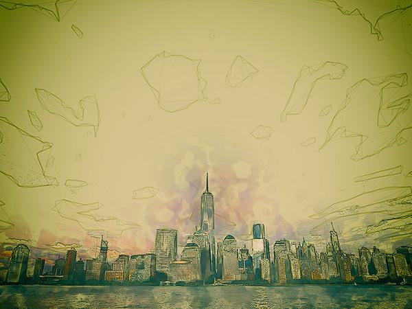 Sketch City Effect5 / スケッチされた街