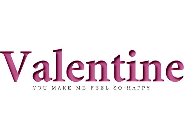 Valentine Text Type2/ バレンタイン