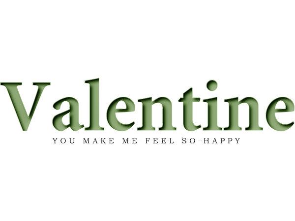 Valentine Text Type4 / バレンタイ テキスト