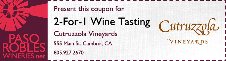 Cutruzzola 2-1 wine tasting coupon