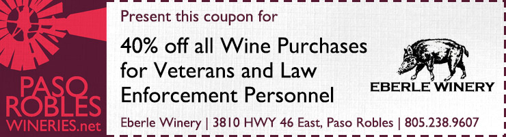 Eberle Winery 40% off coupon