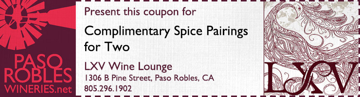 lxv wine tasting coupon