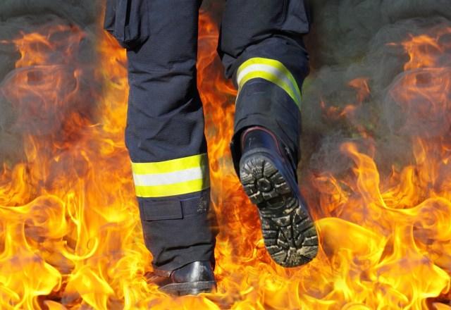 marche dans le feu