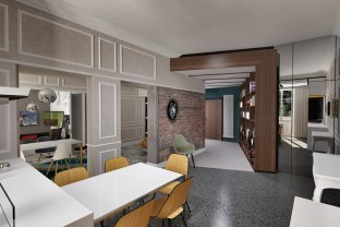 Apartment in Pescara from Kitchen to entrance
