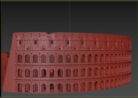 3dsmax - colosseo 3