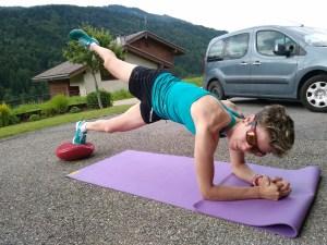 entrainement physique Laetitia ROUX