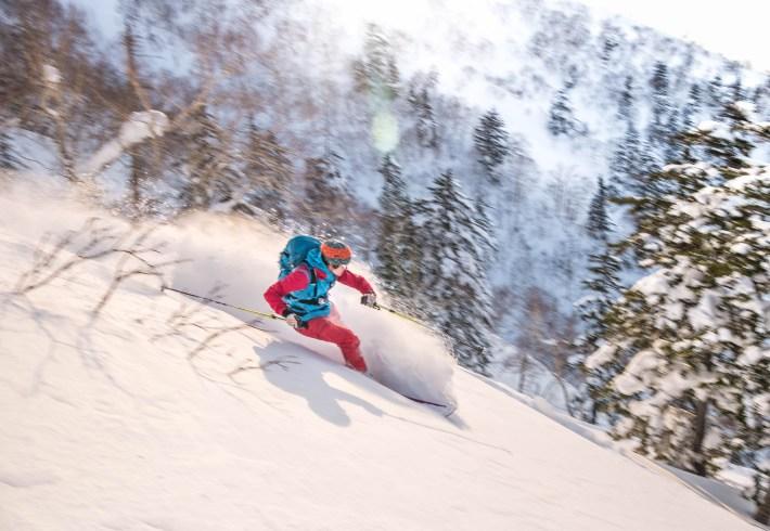 ski de rando à furano hokkaido