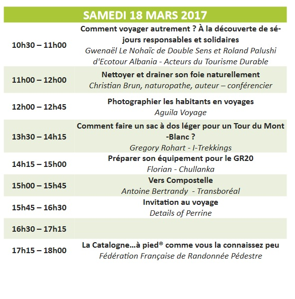 programme atelier salon destination nature paris