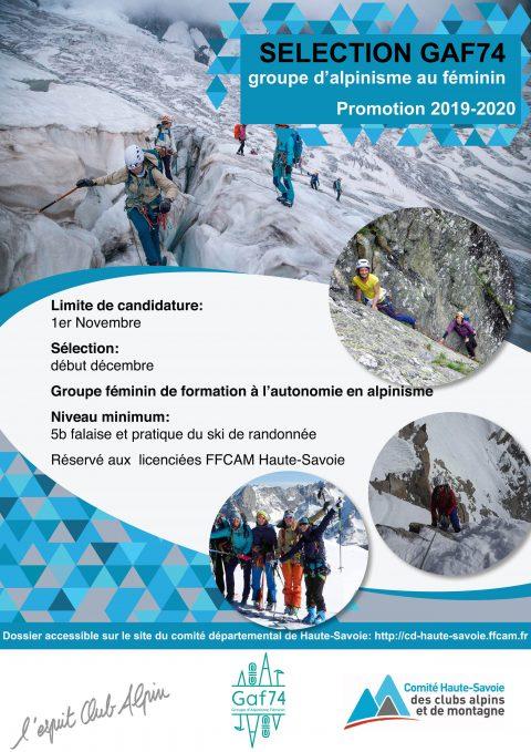 selection groupe d'alpinisme au féminin GAF74