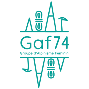 logo GAF74 groupe d'alpinisme au féminin