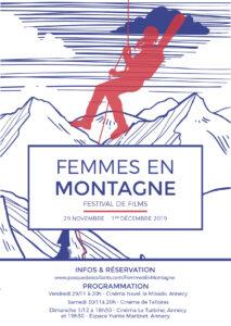 affiche annecy festival de films femmes en montagne