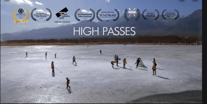 high passes film movie hockey femmes ladakh inde equipe féminine festival femmes en montagne
