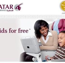 QATAR Airways – Kids for free