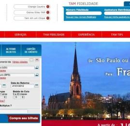 TAM reformula seu site