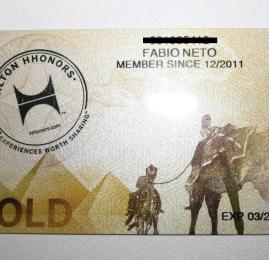Cartão Hilton HHonors Gold – Kit de boas vindas