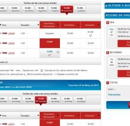 TAM tem passagens para Miami por 20.000 pontos o trecho e América do Sul por 10.000
