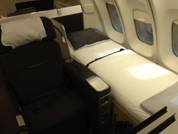 Lufthansa First Class 747