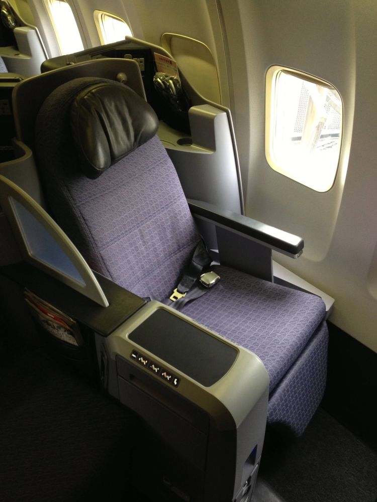 United B757-200 Business Class