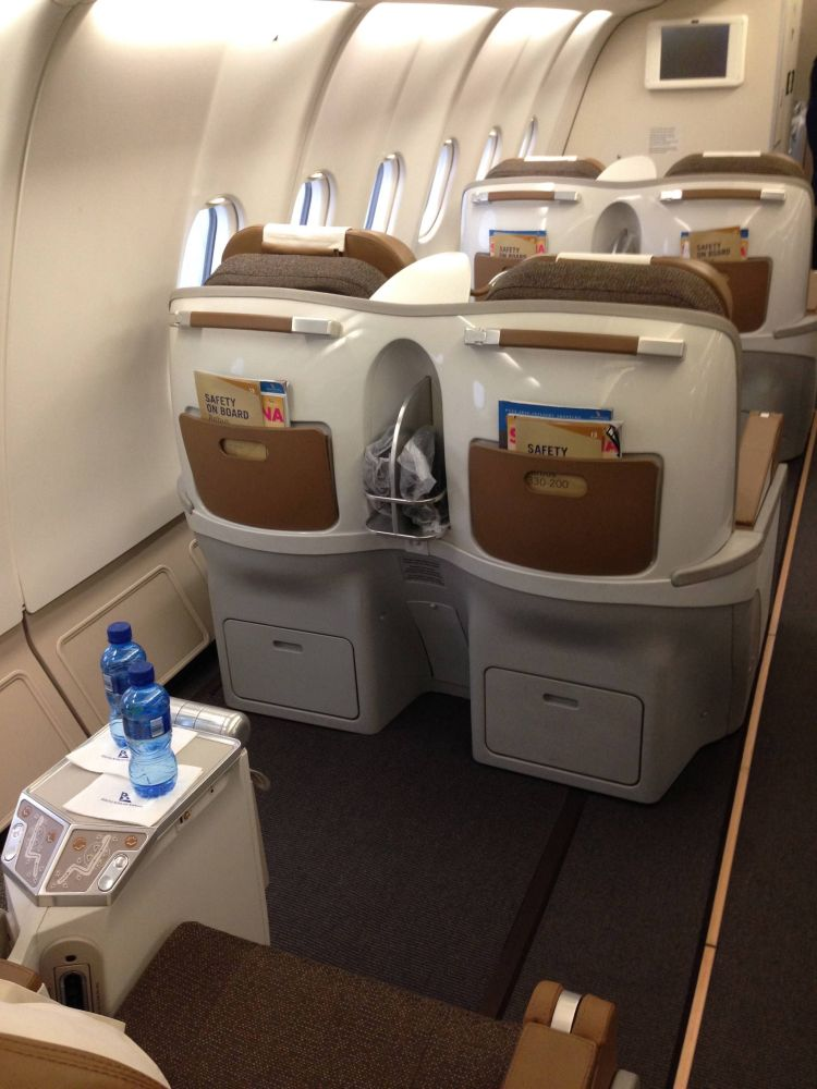 South African Classe Executiva Business Class A330