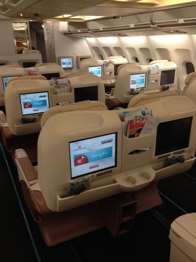 Turkish Airlines Business CLass Executiva A340