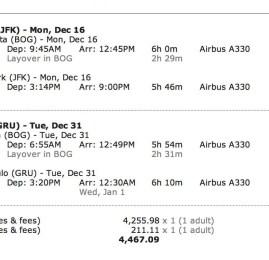 IMPERDÍVEL ! Passagens paras os EUA no Reveillon em Classe Executiva por R$2.230 (ida e volta)