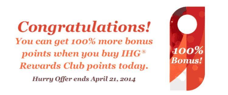 ihg rewards bonus points
