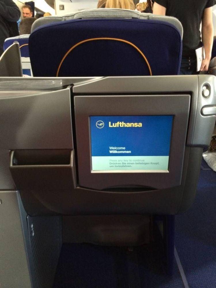 lufthansa a340 classe executiva business class