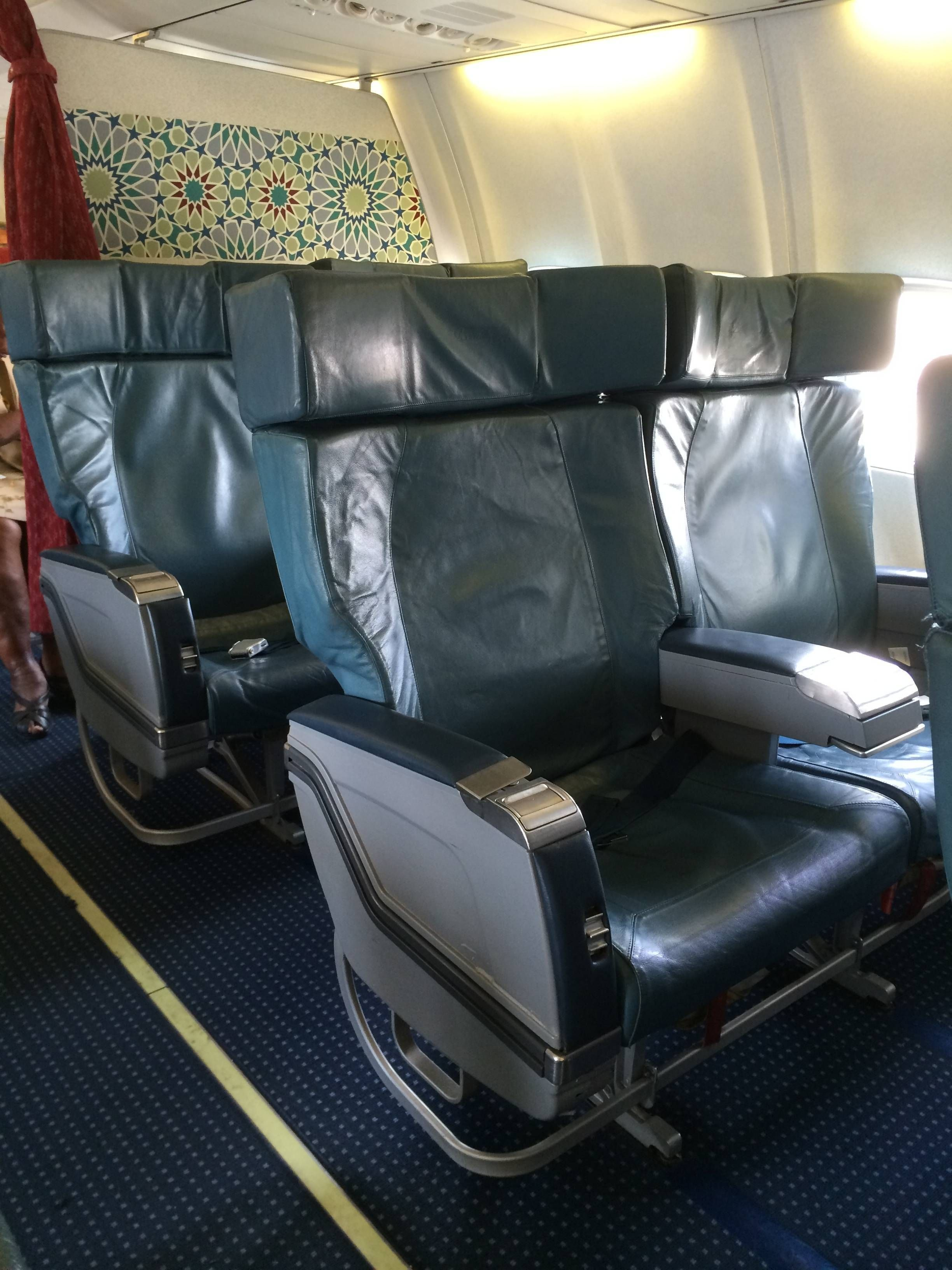 royal air maroc classe executiva b737 business class  passageirodeprimeira