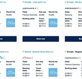 Air France-KLM tem passagens para Europa por 20.000 milhas