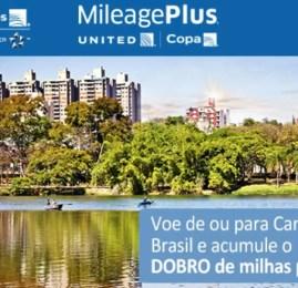 MileagePlus oferece o dobro de milhas nas rotas de/para Campinas com a Copa