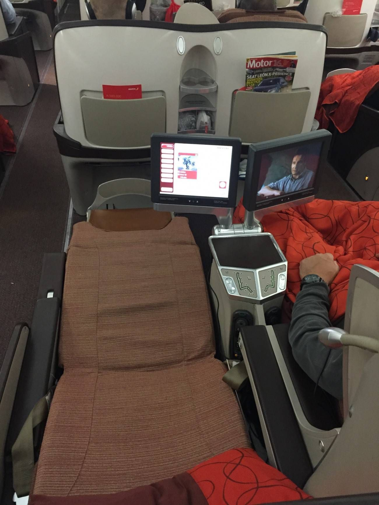 iberia a340-300 business class casse executiva passageirodeprimeira