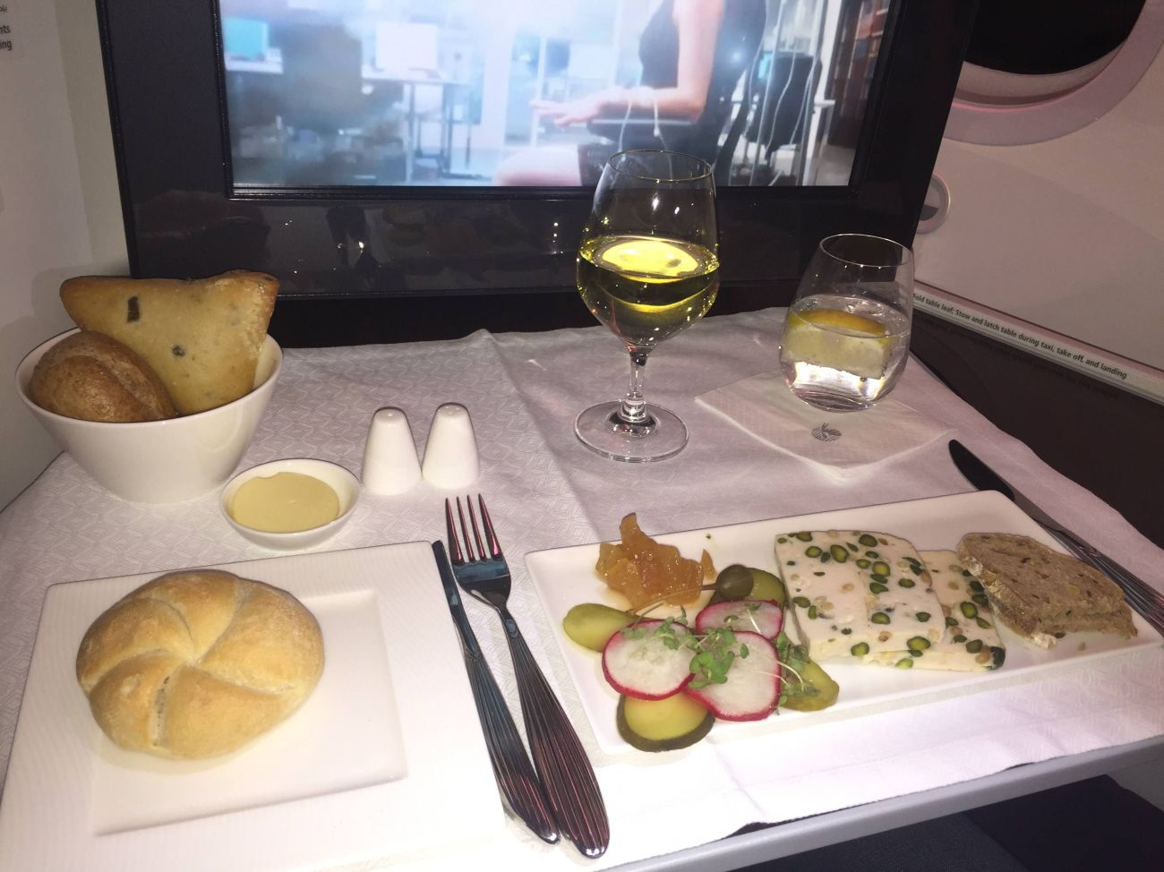 qatar airways b787 business class executiva